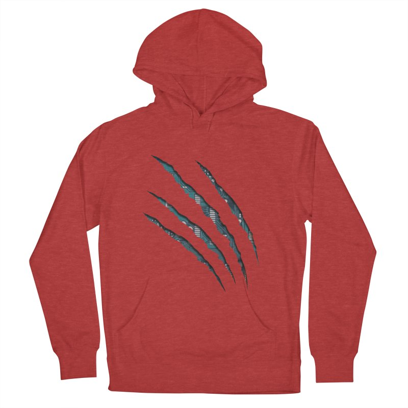 Digital Claw Attack Women's Pullover Hoody by tonydesign's Artist Shop