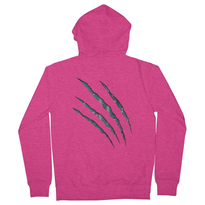 Digital Claw Attack Women's Zip-Up Hoody by tonydesign's Artist Shop
