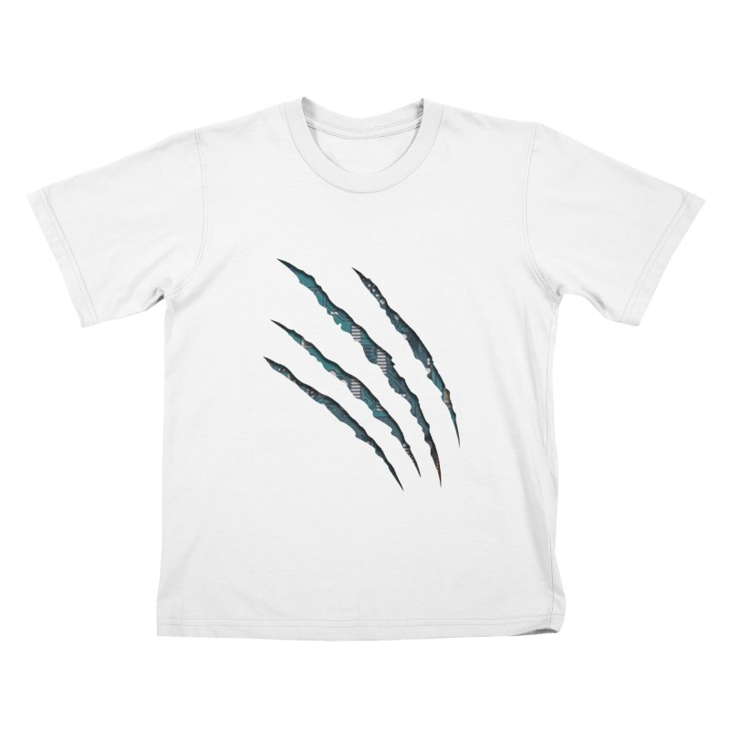 Digital Claw Attack Kids T-shirt by tonydesign's Artist Shop