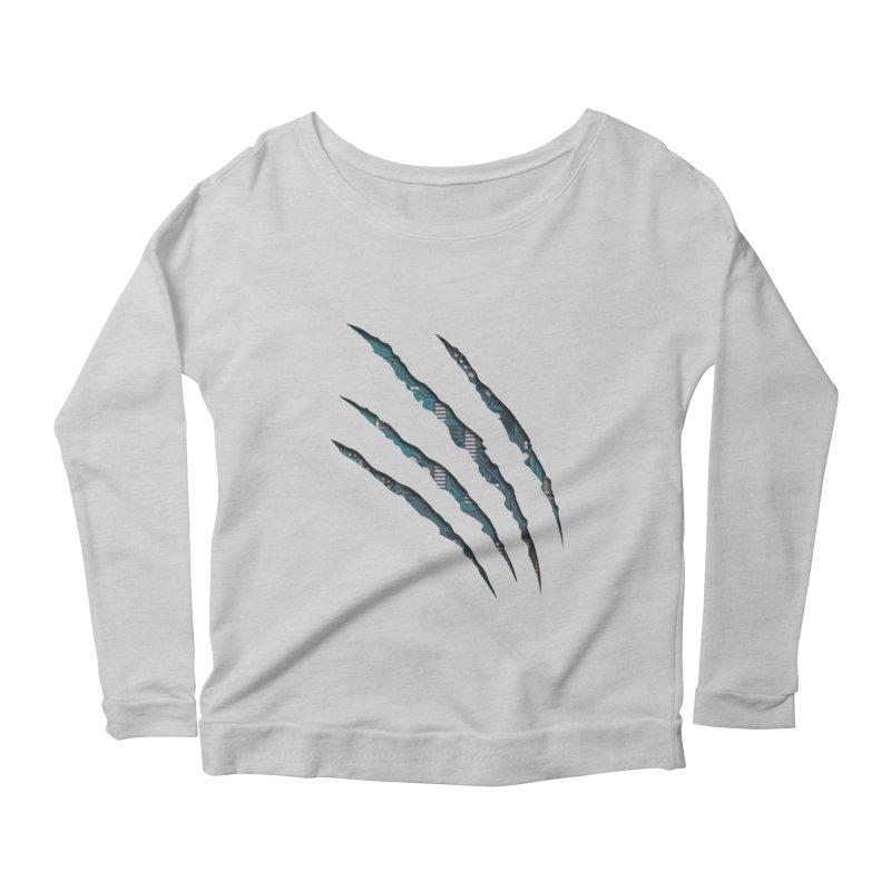 Digital Claw Attack Women's Longsleeve Scoopneck  by tonydesign's Artist Shop
