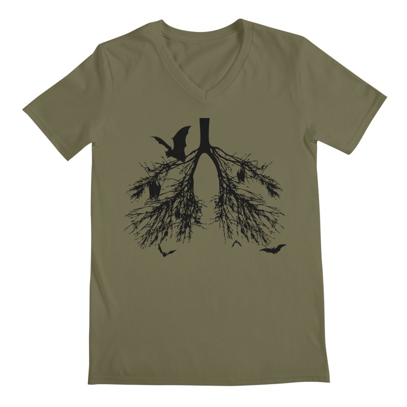 Bats in My Lungs Men's V-Neck by tonydesign's Artist Shop