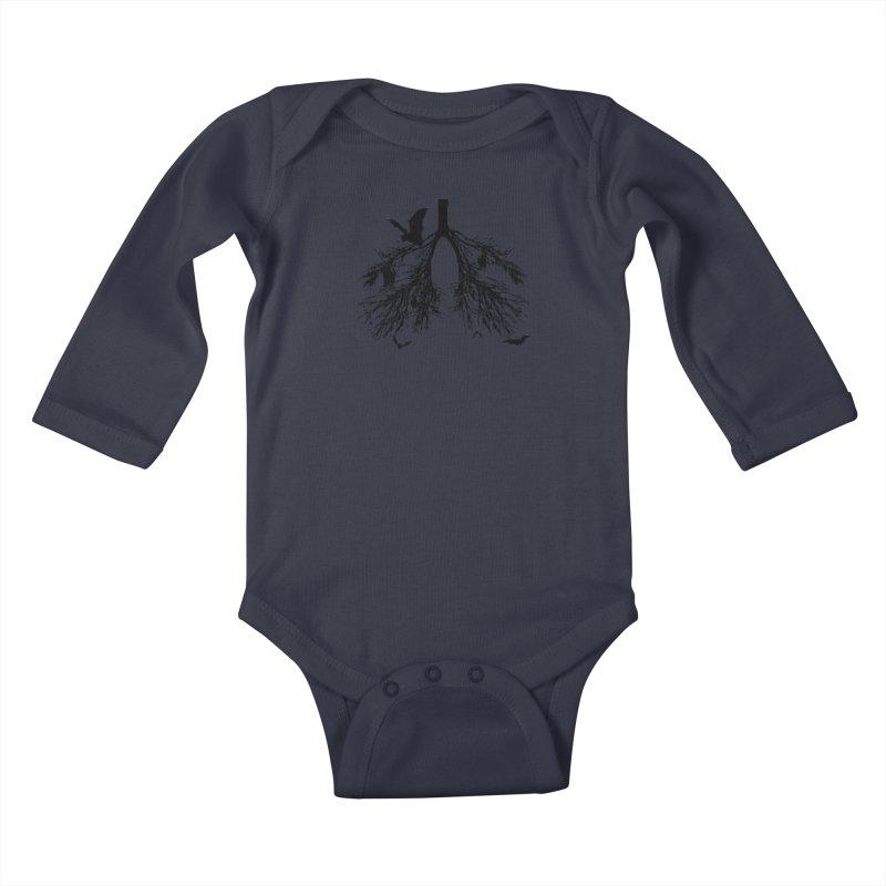 Bats in My Lungs Kids Baby Longsleeve Bodysuit by tonydesign's Artist Shop