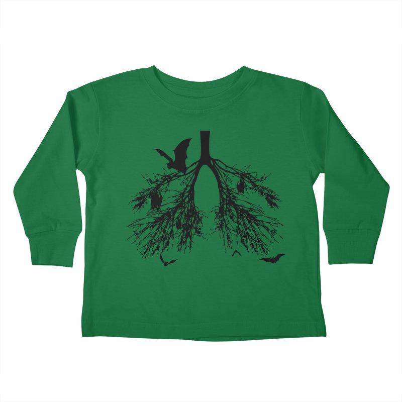 Bats in My Lungs Kids Toddler Longsleeve T-Shirt by tonydesign's Artist Shop