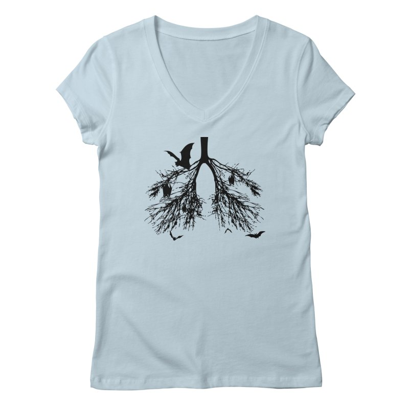Bats in My Lungs Women's V-Neck by tonydesign's Artist Shop