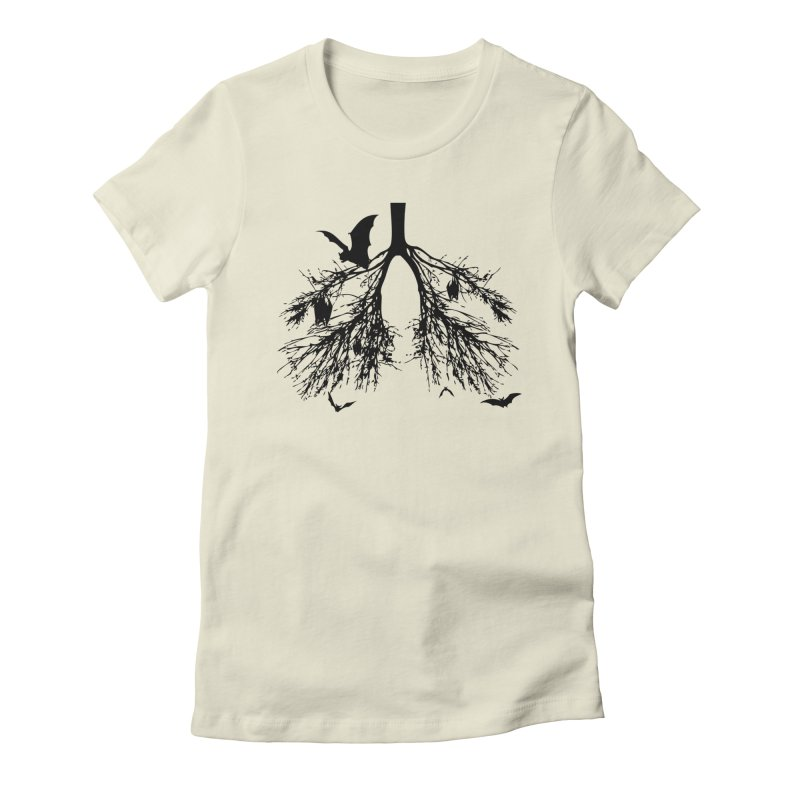Bats in My Lungs Women's Fitted T-Shirt by tonydesign's Artist Shop