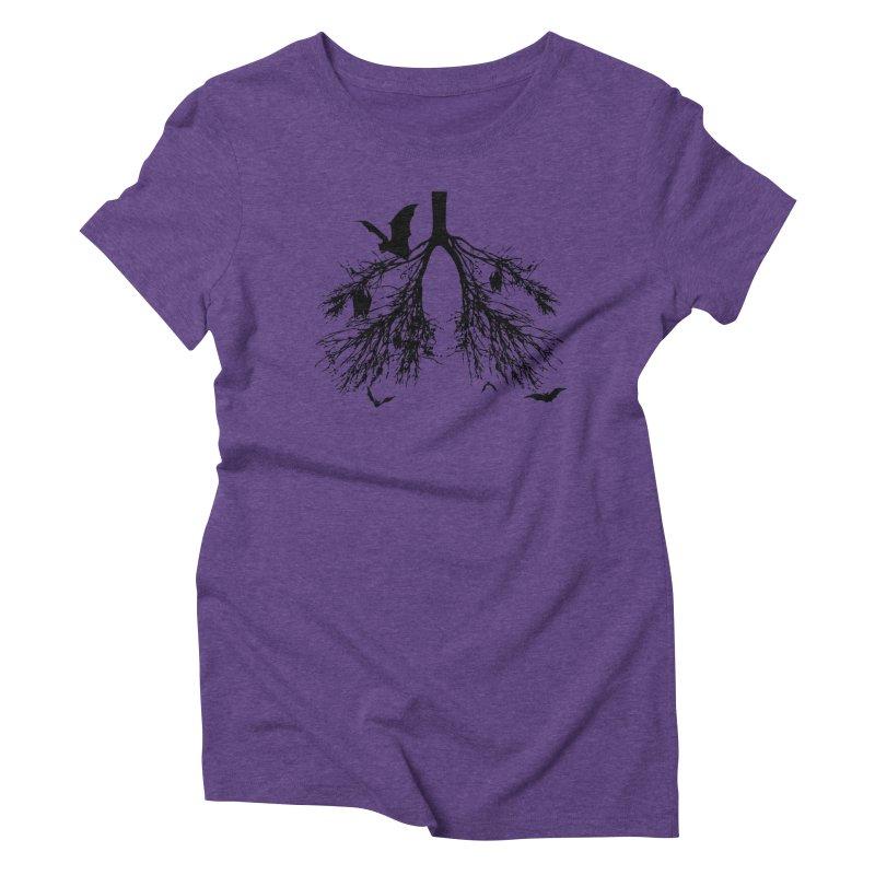 Bats in My Lungs Women's Triblend T-shirt by tonydesign's Artist Shop