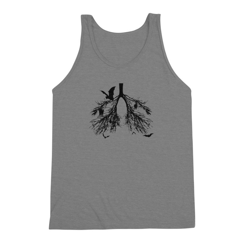 Bats in My Lungs Men's Triblend Tank by tonydesign's Artist Shop