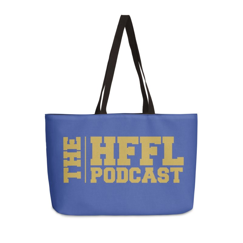 The HFFL Podcast Accessories Weekender Bag Bag by tonynorgaard's Artist Shop
