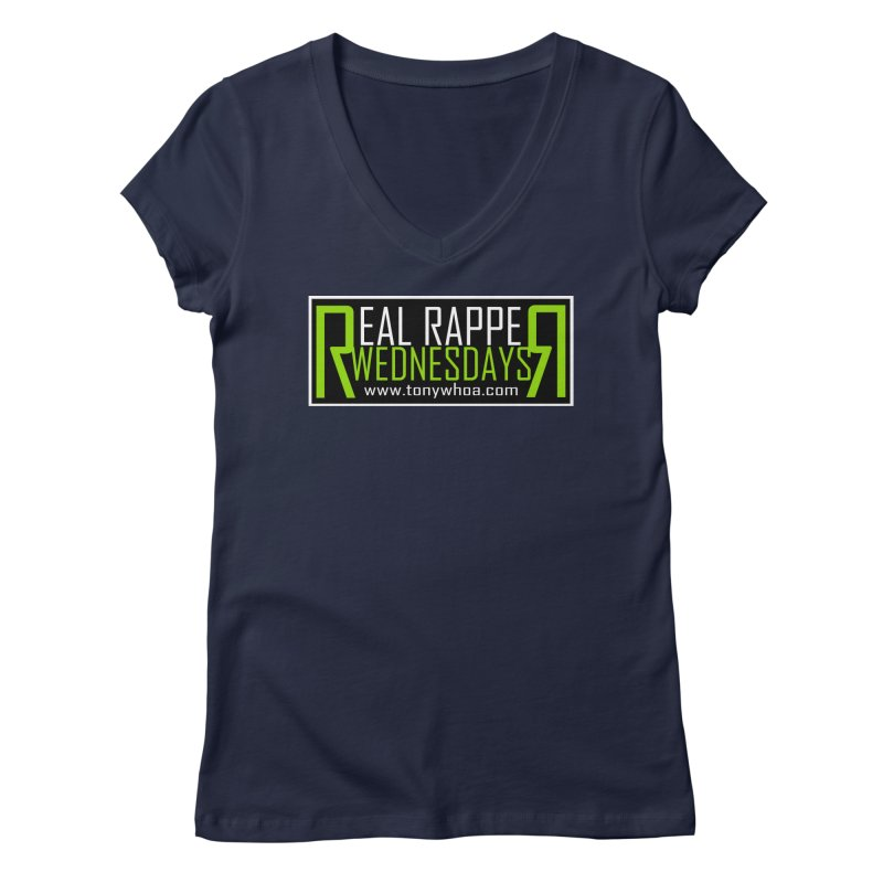 Real Rapper Wednesdays Women's V-Neck by TonyWHOA! Artist Shop