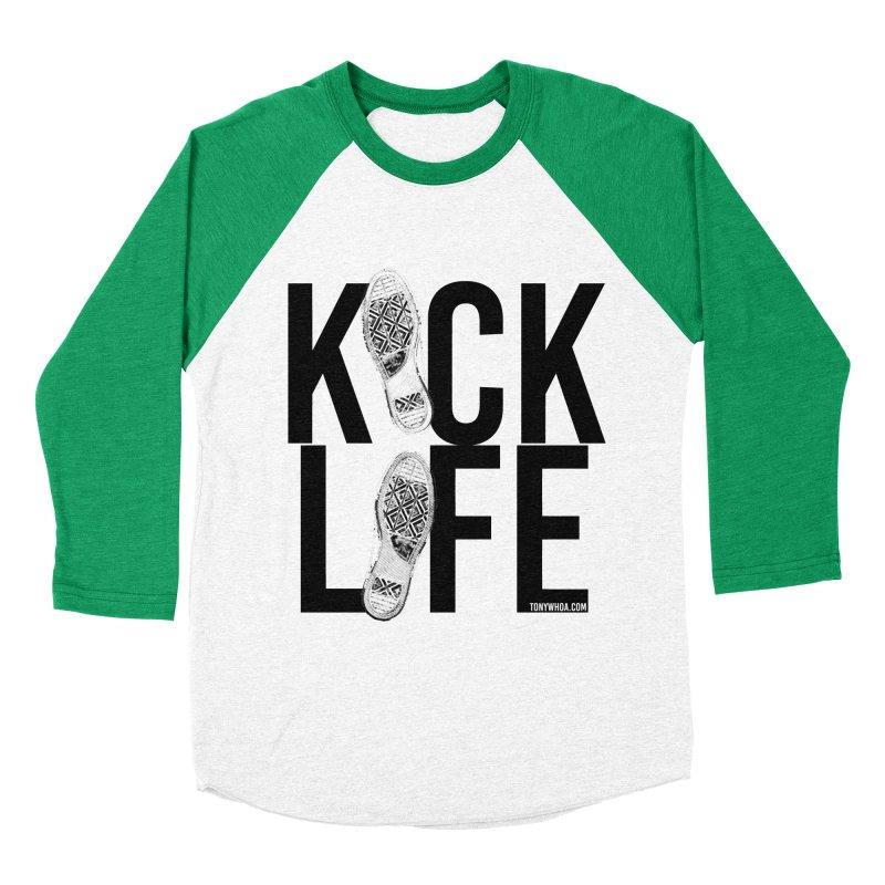 Kick Life Women's Baseball Triblend Longsleeve T-Shirt by TonyWHOA!