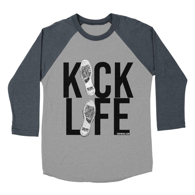 Kick Life Women's Baseball Triblend Longsleeve T-Shirt by TonyWHOA!