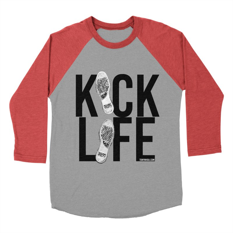 Kick Life Men's Baseball Triblend T-Shirt by TonyWHOA! Artist Shop