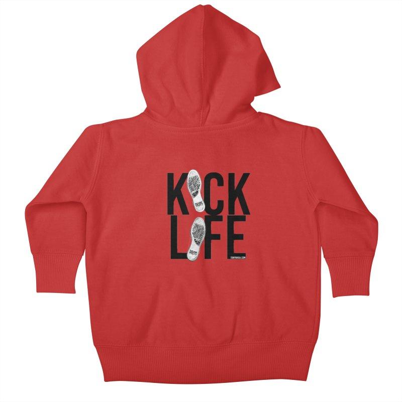 Kick Life Kids Baby Zip-Up Hoody by TonyWHOA! Artist Shop