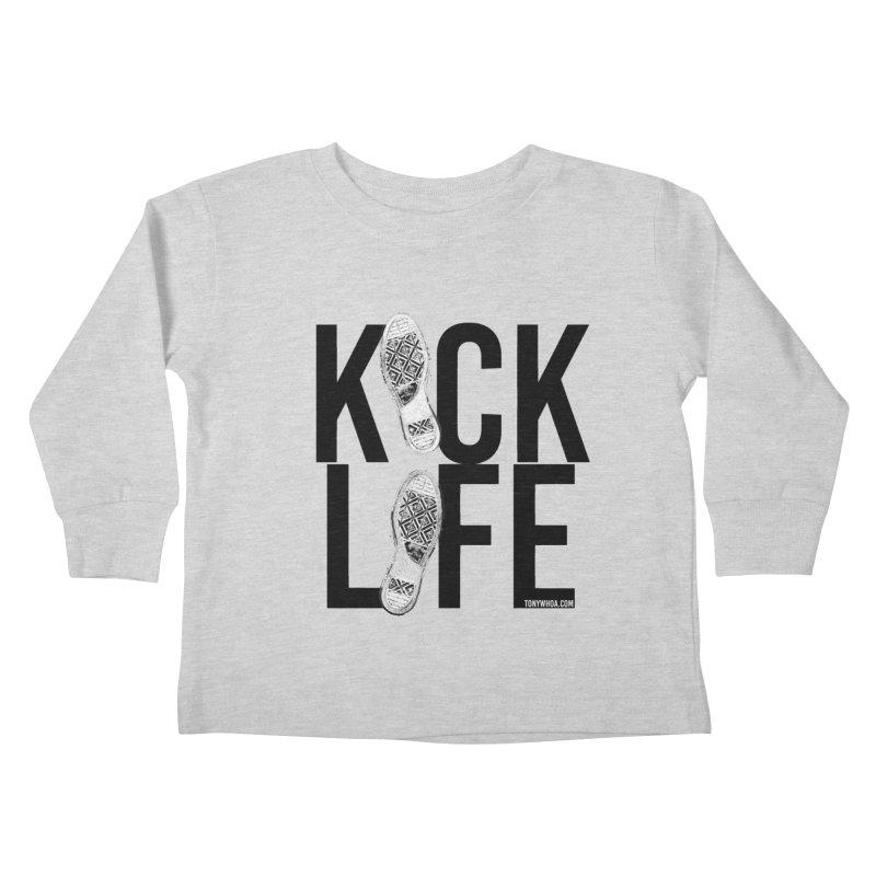 Kick Life Kids Toddler Longsleeve T-Shirt by TonyWHOA! Artist Shop
