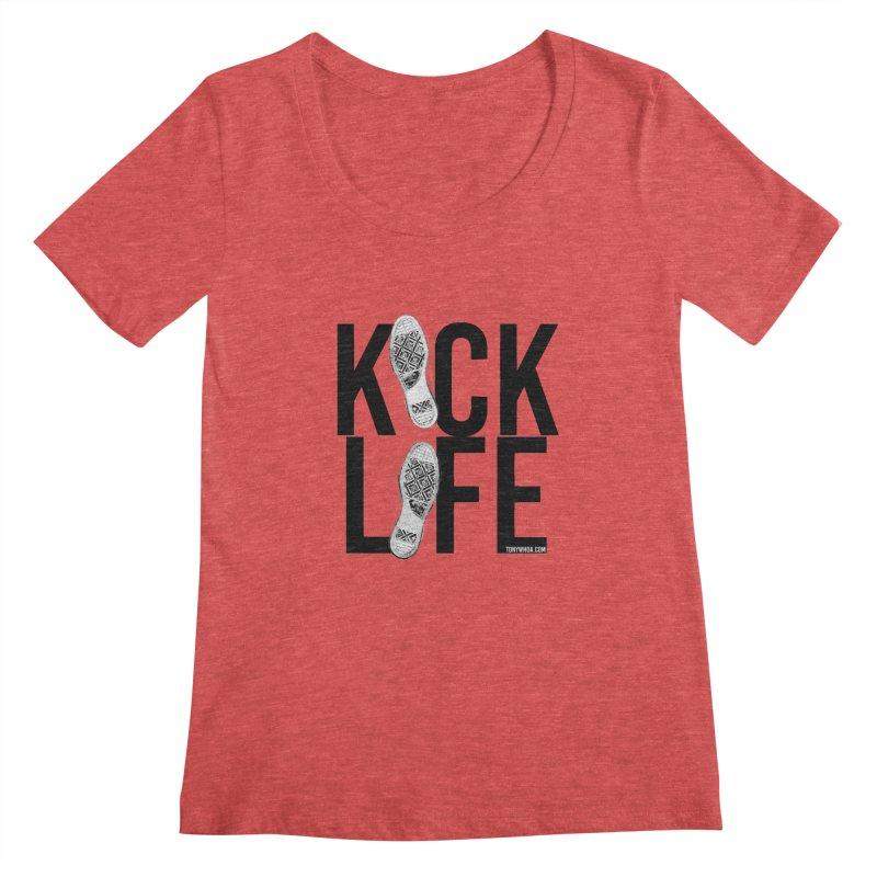 Kick Life Women's Regular Scoop Neck by TonyWHOA!