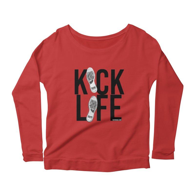 Kick Life Women's Scoop Neck Longsleeve T-Shirt by TonyWHOA!