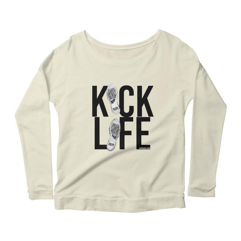 Kick Life Women's Longsleeve Scoopneck  by TonyWHOA! Artist Shop