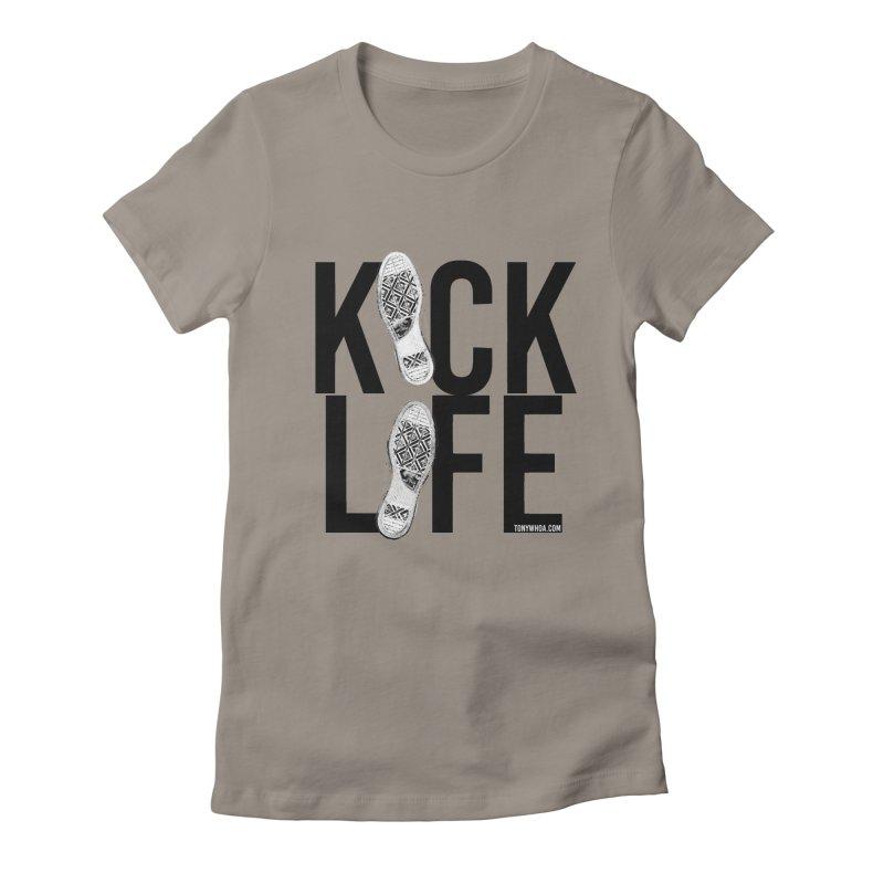 Kick Life Women's Fitted T-Shirt by TonyWHOA! Artist Shop