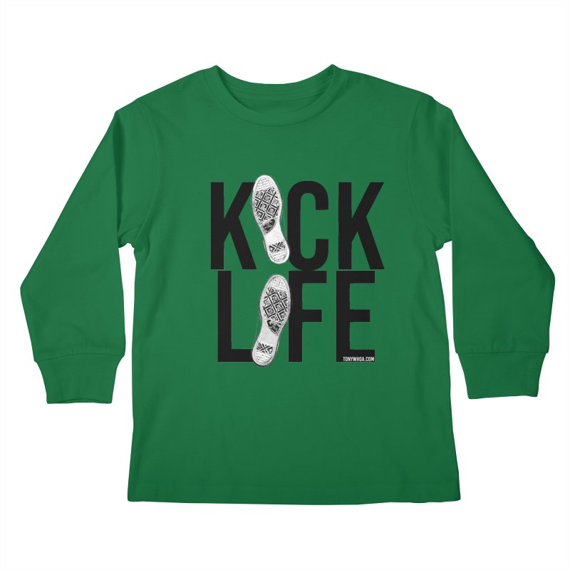 Kick Life Kids Longsleeve T-Shirt by TonyWHOA! Artist Shop