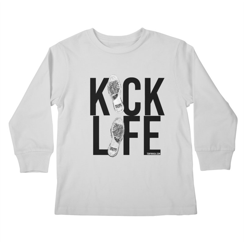 Kick Life Kids Longsleeve T-Shirt by TonyWHOA!