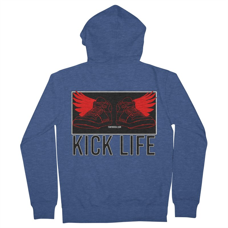 Kick Life Duces Women's French Terry Zip-Up Hoody by TonyWHOA!