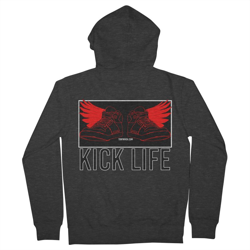 Kick Life Duces Men's French Terry Zip-Up Hoody by TonyWHOA!