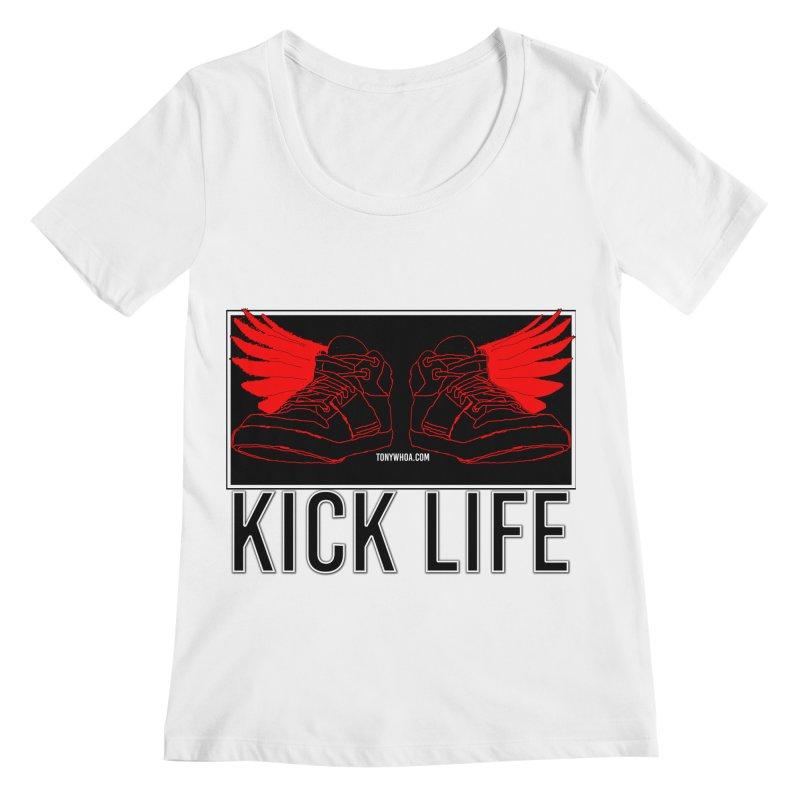 Kick Life Duces Women's Regular Scoop Neck by TonyWHOA!