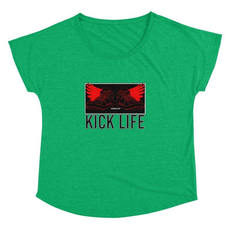 Kick Life Duces Women's Dolman Scoop Neck by TonyWHOA!