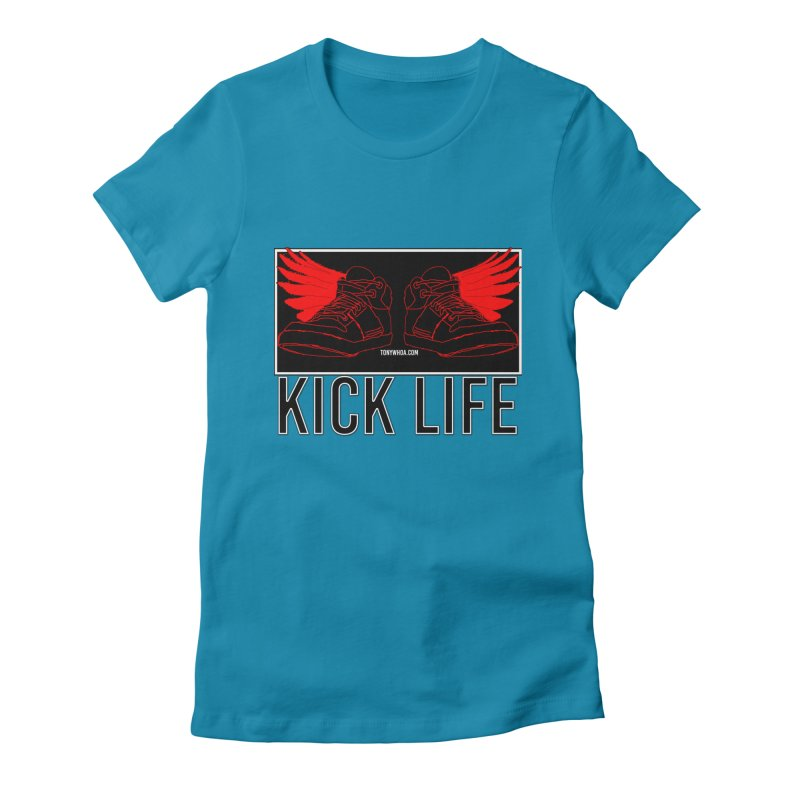 Kick Life Duces Women's Fitted T-Shirt by TonyWHOA!