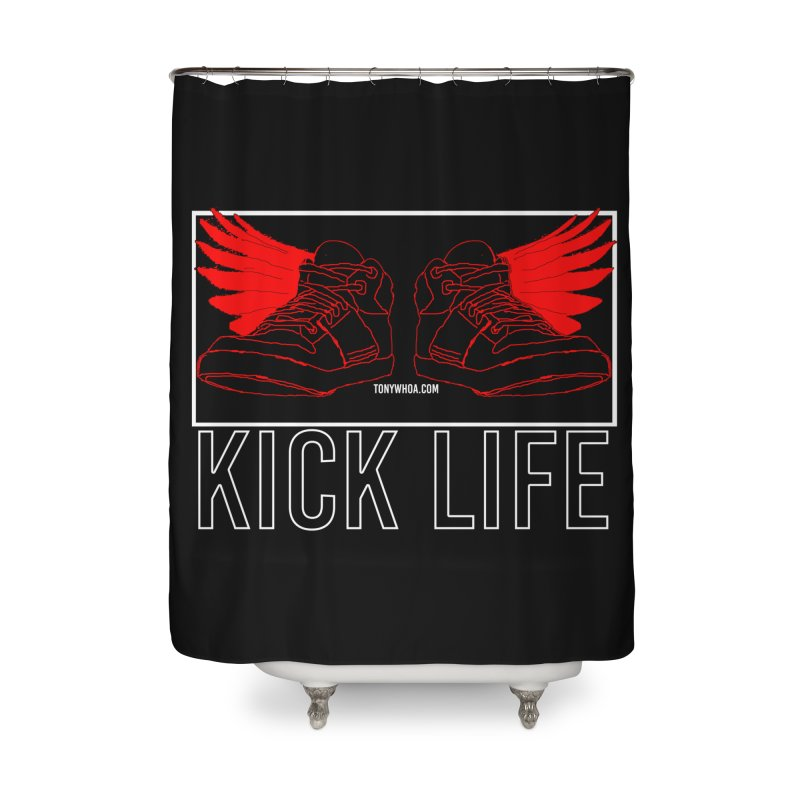 Kick Life Duces Home Shower Curtain by TonyWHOA!