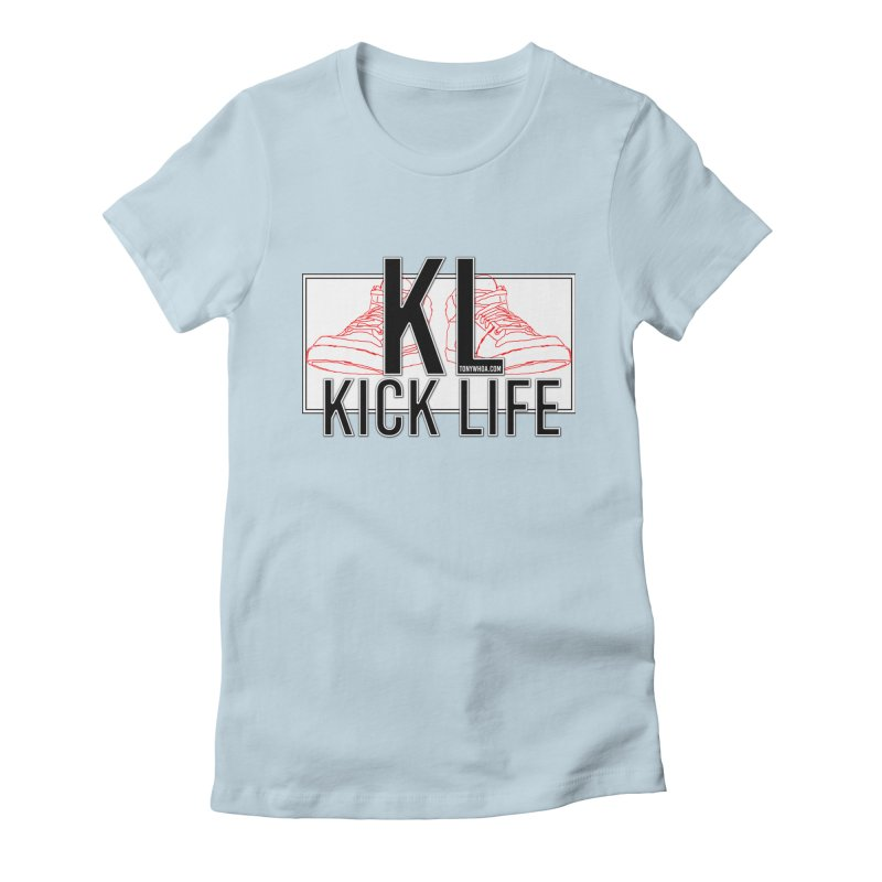 Kick Life Duces Women's Fitted T-Shirt by TonyWHOA! Artist Shop