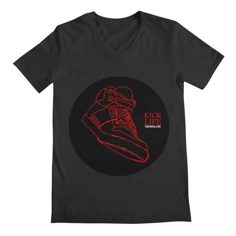 Kick Life Tres Men's Regular V-Neck by TonyWHOA! Artist Shop