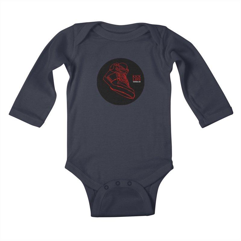 Kick Life Tres Kids Baby Longsleeve Bodysuit by TonyWHOA! Artist Shop