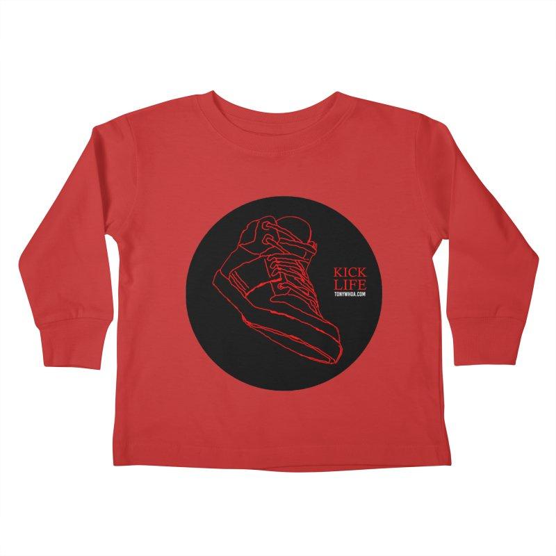 Kick Life Tres Kids Toddler Longsleeve T-Shirt by TonyWHOA!