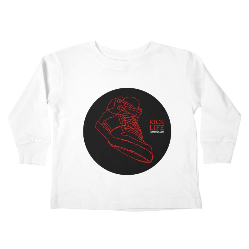 Kick Life Tres Kids Toddler Longsleeve T-Shirt by TonyWHOA! Artist Shop