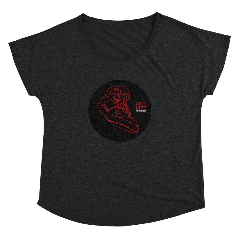 Kick Life Tres Women's Dolman Scoop Neck by TonyWHOA! Artist Shop