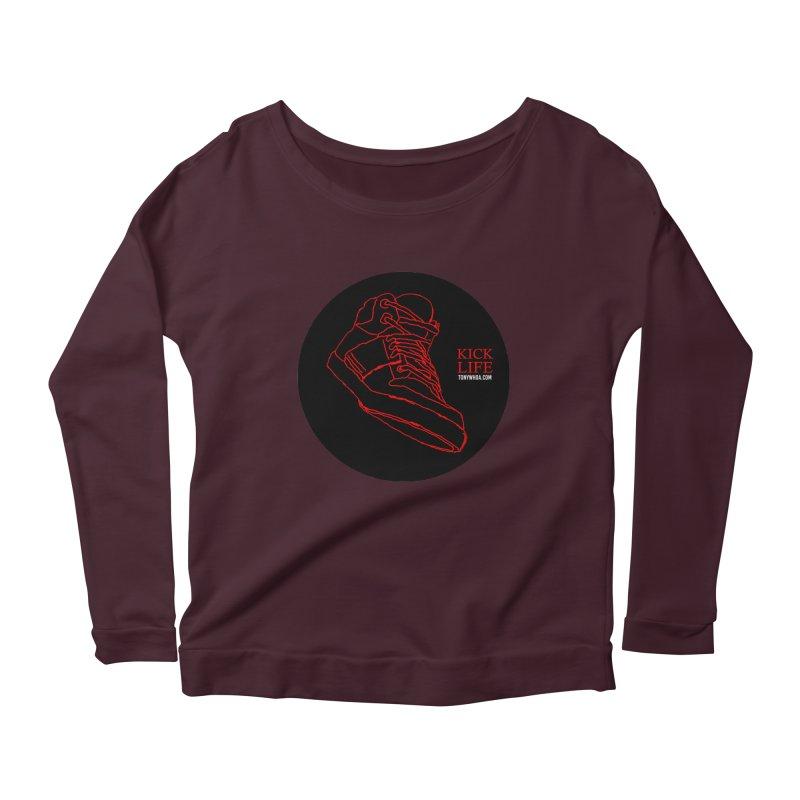 Kick Life Tres Women's Scoop Neck Longsleeve T-Shirt by TonyWHOA! Artist Shop