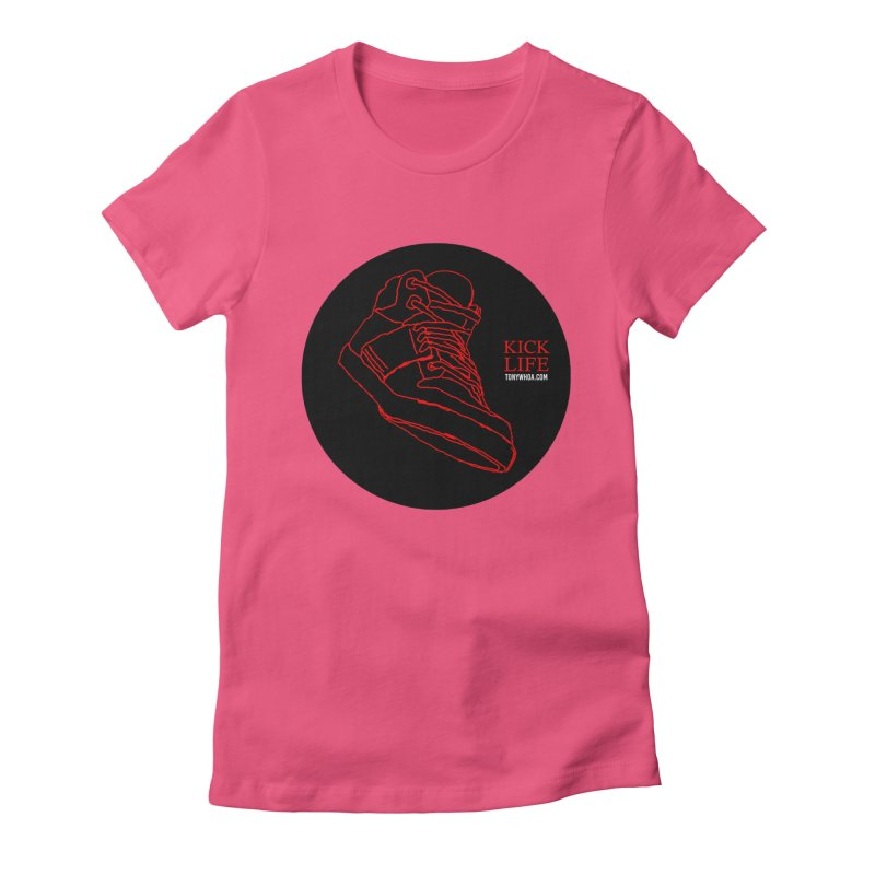 Kick Life Tres Women's Fitted T-Shirt by TonyWHOA! Artist Shop