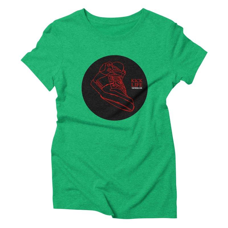 Kick Life Tres Women's Triblend T-Shirt by TonyWHOA! Artist Shop