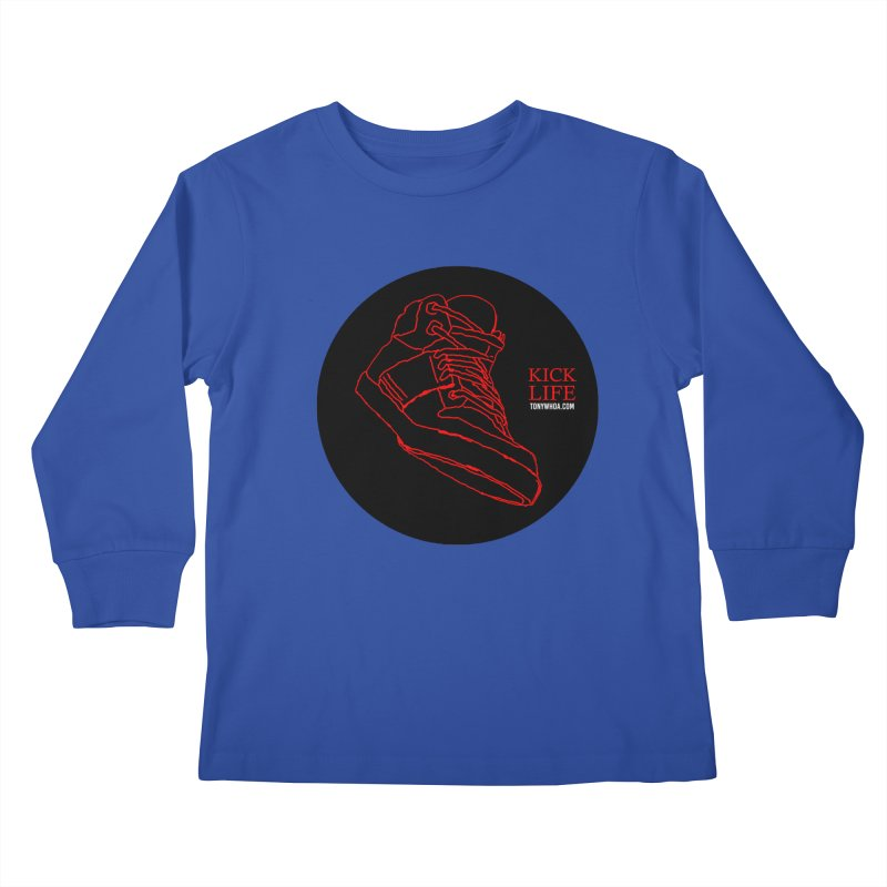 Kick Life Tres Kids Longsleeve T-Shirt by TonyWHOA! Artist Shop