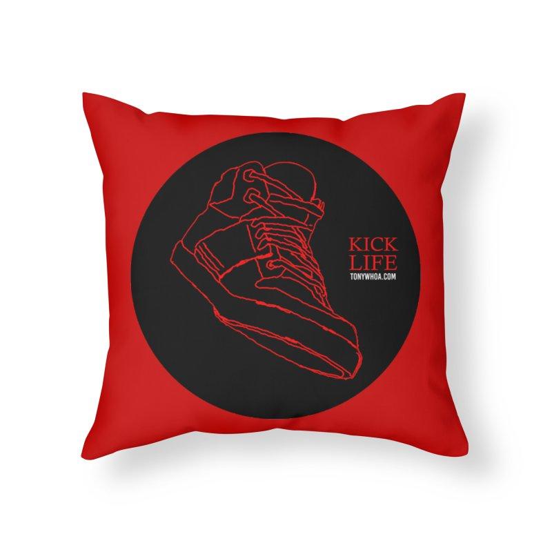 Kick Life Tres Home Throw Pillow by TonyWHOA! Artist Shop