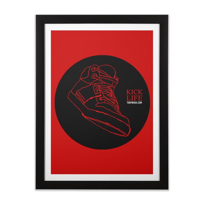 Kick Life Tres Home Framed Fine Art Print by TonyWHOA!