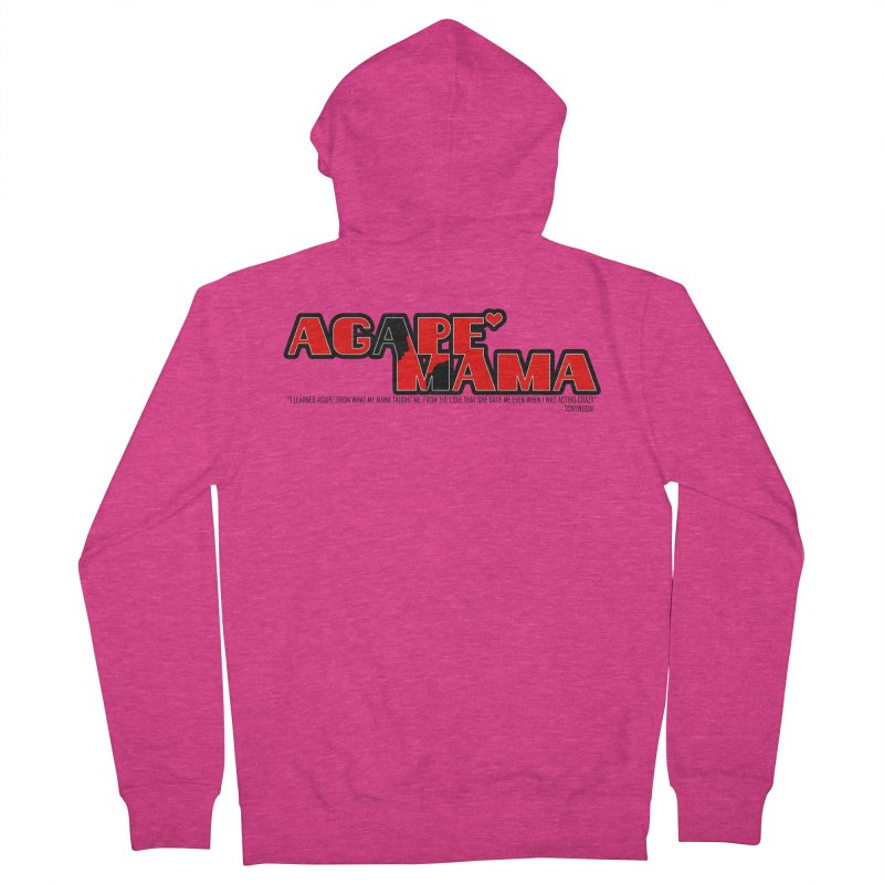 Agape' Mama Women's French Terry Zip-Up Hoody by TonyWHOA! Artist Shop