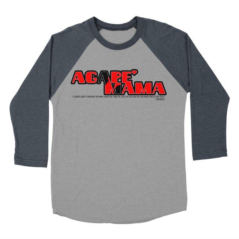 Agape' Mama Women's Baseball Triblend Longsleeve T-Shirt by TonyWHOA!