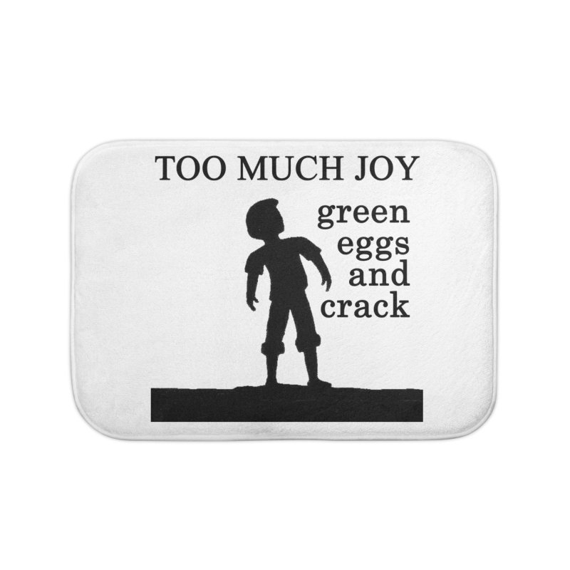 Green Eggs and Crack (black) Home Bath Mat by toomuchjoy's Artist Shop