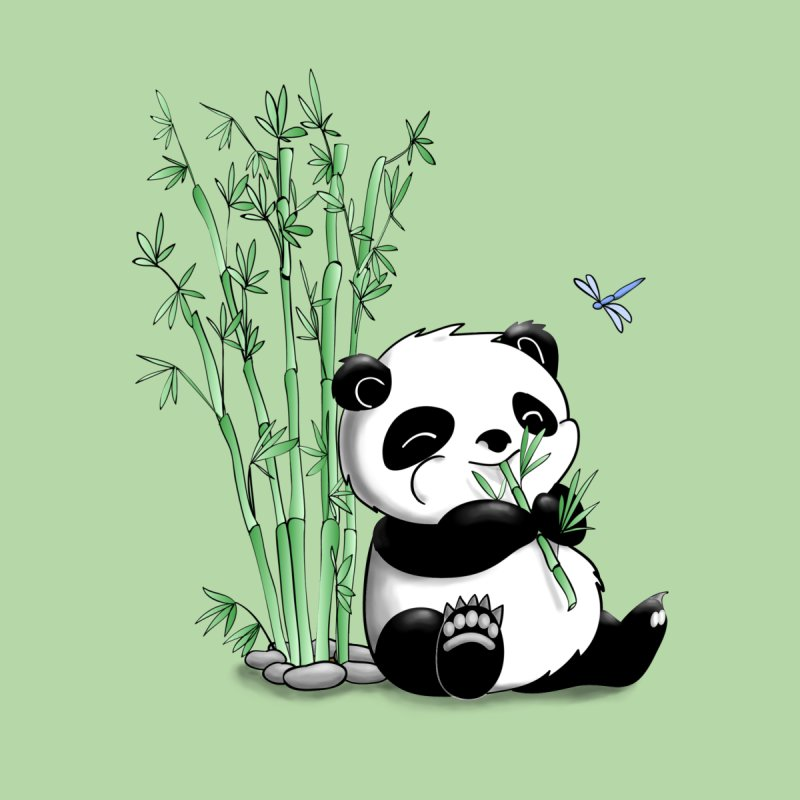 Panda Eating Bamboo Kids Pullover Hoody by Tootsiecool's Artist Shop