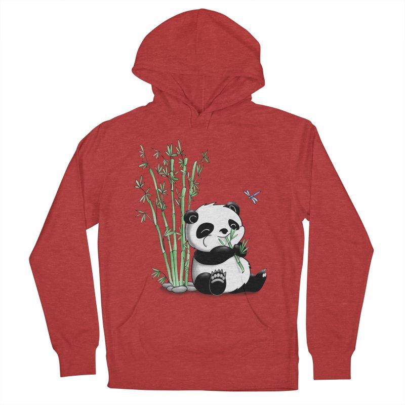 Panda Eating Bamboo Women's Pullover Hoody by Tootsiecool's Artist Shop