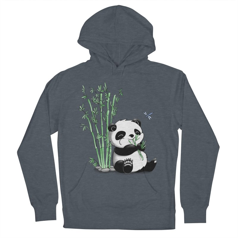 Panda Eating Bamboo Men's Pullover Hoody by Tootsiecool's Artist Shop