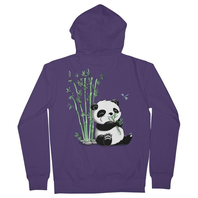Panda Eating Bamboo Women's Zip-Up Hoody by Tootsiecool's Artist Shop
