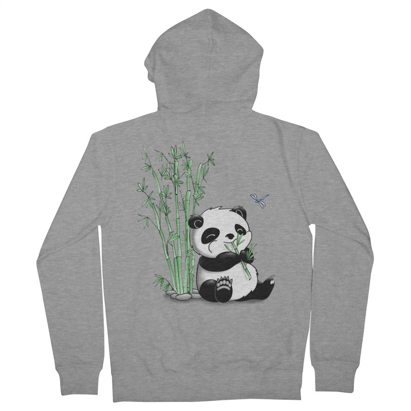 Panda Eating Bamboo Men's Zip-Up Hoody by Tootsiecool's Artist Shop